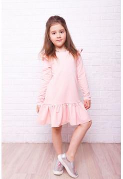 Красивое платье детское с воланом внизу