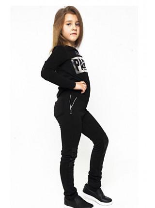 Зимние лосины для девочки с пайетками на коленях
