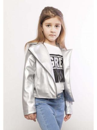Шкіряна куртка для дівчинки