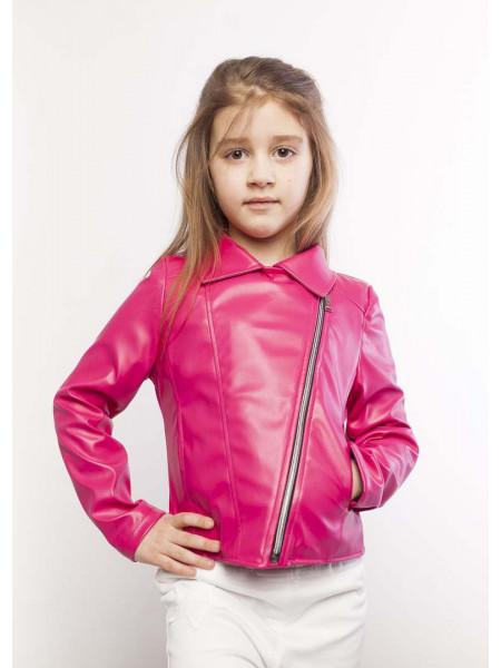 Кожаная куртка для девочки