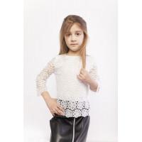 Дитяча біла блузка