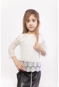 Детская белая блузка