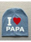 Дитяча шапка люблю маму і тата