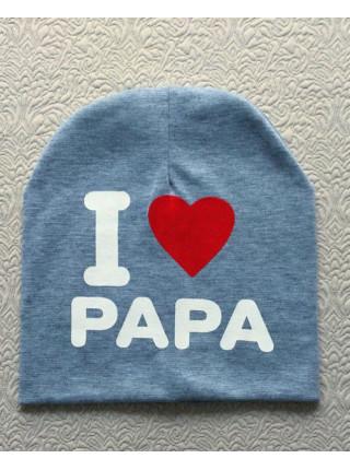 Детская шапка люблю маму и папу
