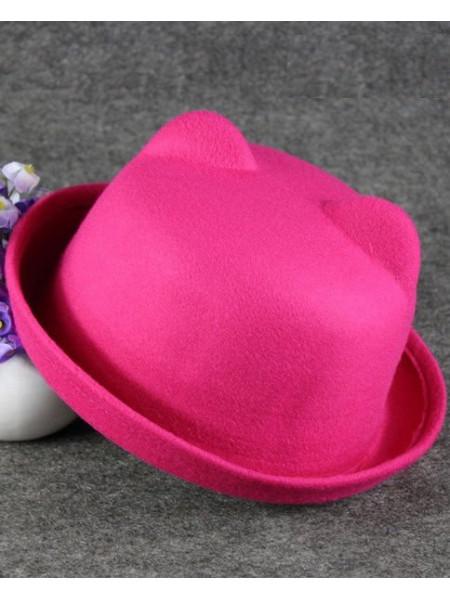 Дитячий фетровий капелюшок з вушками