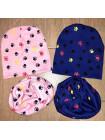 Стильная детская шапка и хомут для девочки