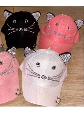Летняя кепка с ушками для девочки