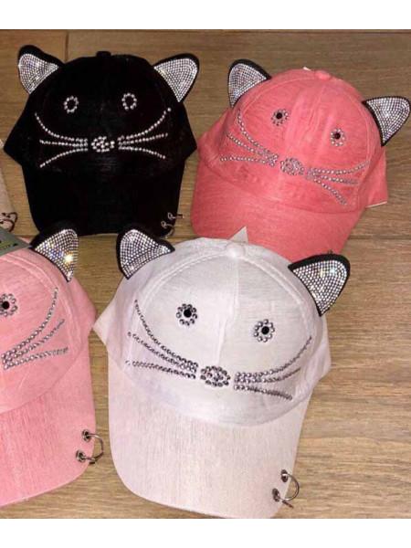 Літня кепка з вушками для дівчинки