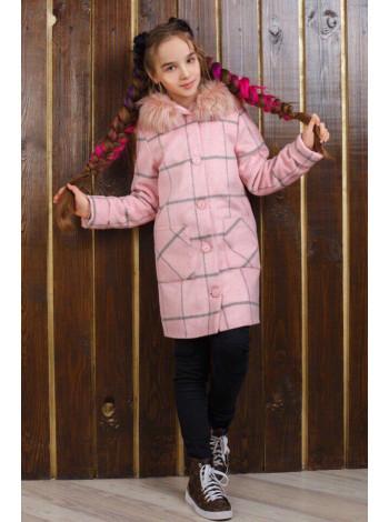 Дитяче пальто в клітинку