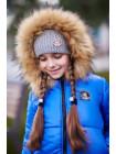 Зимова куртка для дівчинки асиметричного крою