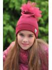 Дитяча трикотажна шапка з фатином