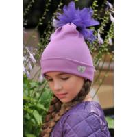 Детская трикотажная шапка с фатином