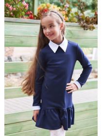 Шкільне плаття з білим коміром