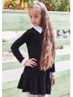 Школьное платье с белым воротником