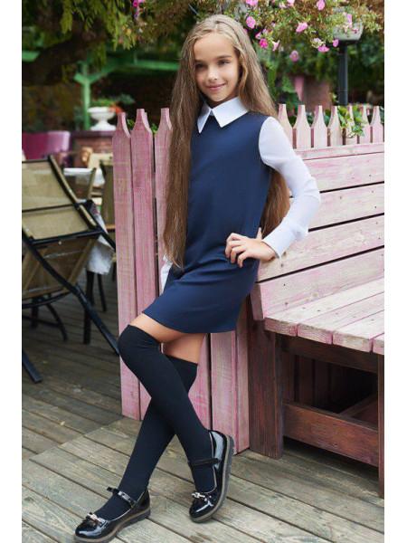 Шкільне плаття з довгим рукавом