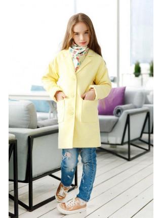 Модне кашемірове пальто для дівчинки