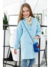 Модное кашемировое пальто для девочки