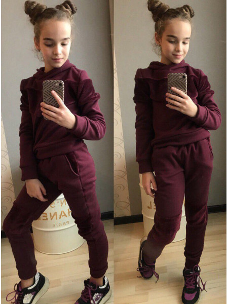 Теплый спортивный костюм для девочки на меху