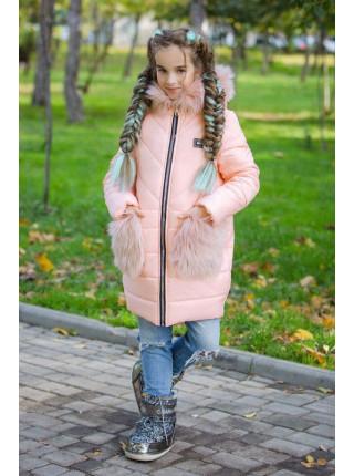 Зимняя детская куртка с мехом