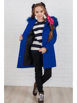 Дитяче пальто на синтепоні з хутром