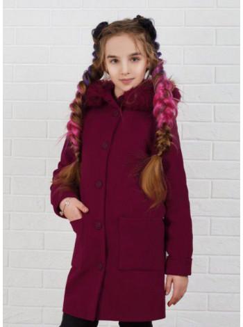 Детское пальто на синтепоне с мехом
