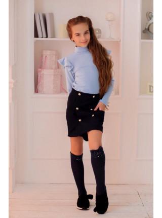 Детская водолазка в школу: белая, голубая, темно-синяя