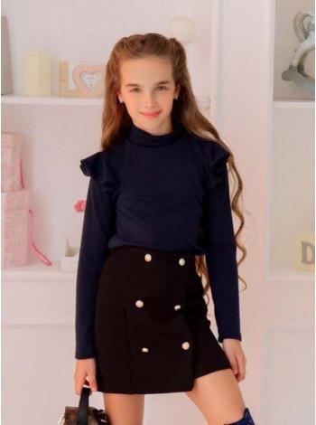 Дитяча юбка на гудзиках в школу