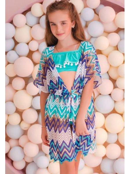 Модная туника для пляжа детская