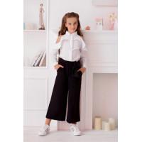 Детские брюки для девочек синие черные