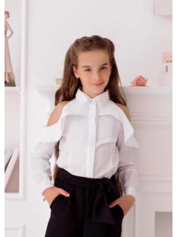 Нарядная рубашка для девочек в школу