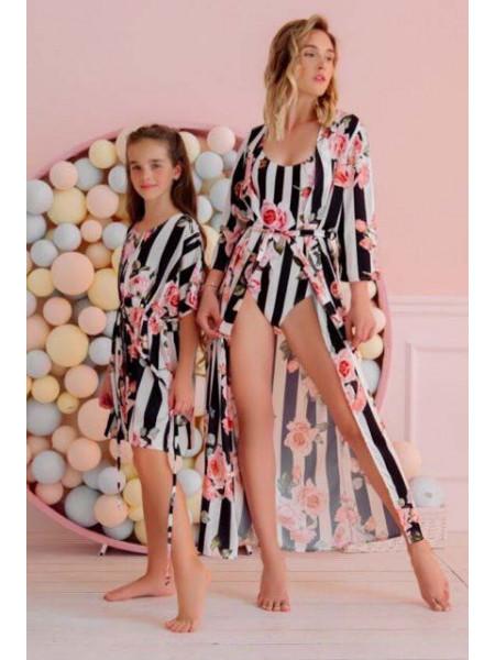 Шелковая пляжная туника для девочки