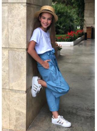 Детские кюлоты джинсы для девочки
