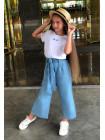 Дитячі кюлоти джинси для дівчинки