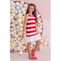 Летнее детское платье с воланом