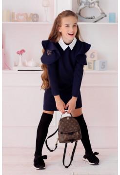 Дитяче шкільне плаття з білим коміром
