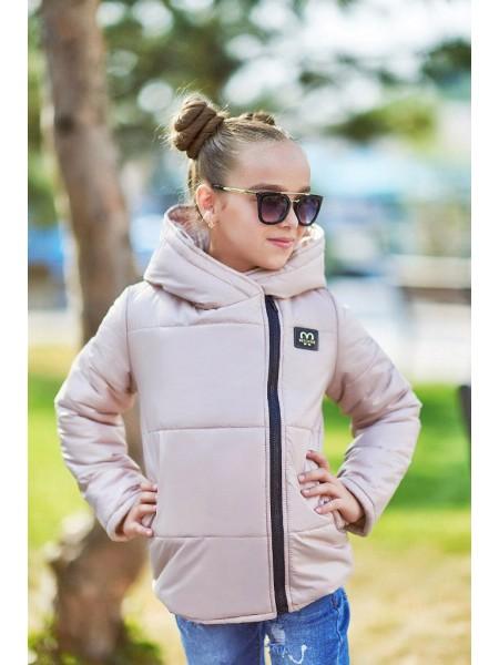 Коротка демісезонна дитяча куртка для дівчинки