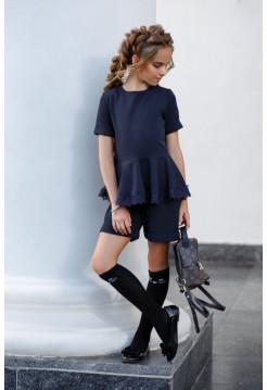 Модная школьная форма с баской и шортами