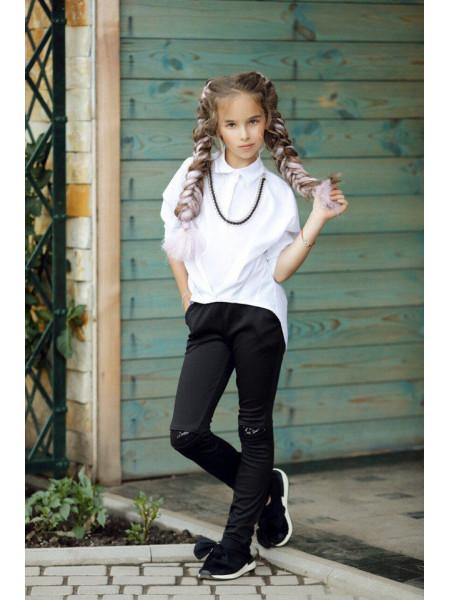 Детские лосины с пайетками на коленях