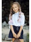 Дитяча красива сорочка для дівчаток в школу