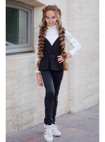 Школьная форма для девочек: брюки и жилетка