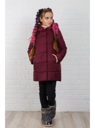 Дитяча зимова куртка для дівчинки на флісі