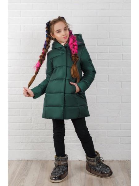 Детская зимняя куртка для девочки на флисе