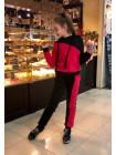 Теплый спортивный костюм на меху для девочки