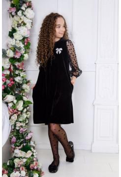Вечернее бархатное платье для девочки