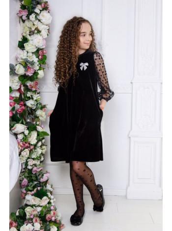 Вечірнє бархатне плаття для дівчинки