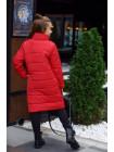 Длинная зимняя куртка на флисе для девочки