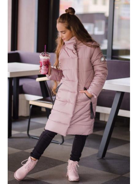 Довга зимова куртка на флісі для дівчинки