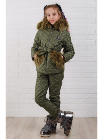 Дитячий зимовий костюм для дівчинки