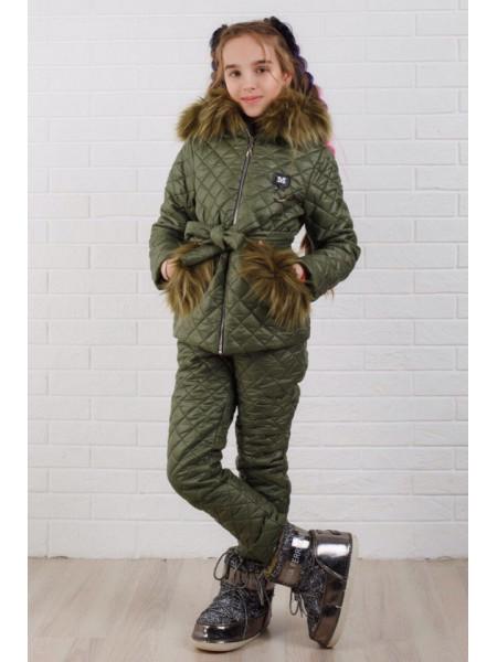 Детский зимний костюм для девочки
