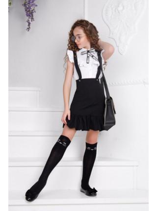 Школьная юбка с воланом по низу